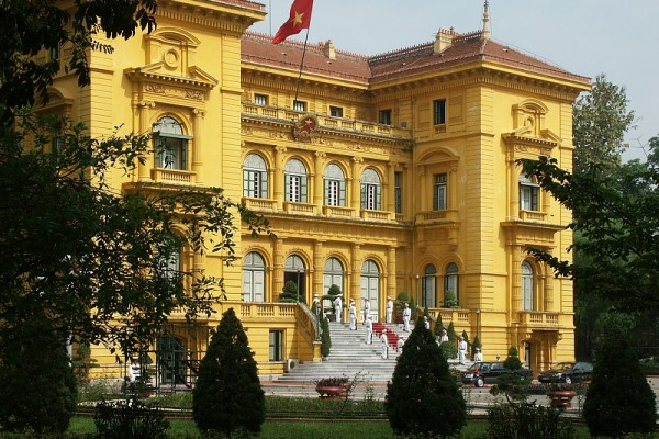 where is the Presidency Palace hanoi, hanoi presidency palace, hanoi city tour