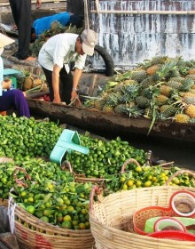 Cai Be Floating Market, Can Tho Tour, Mekong Delta