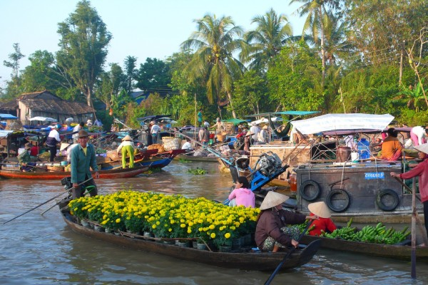 Cai Be Floating Market, Vinh Long, Vinh Long Province