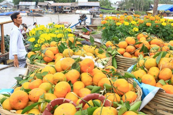 Cai Be Floating Market, Cai Be Town, Cai Be in Mekong Delta
