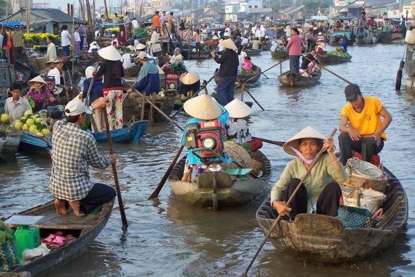 Cai Rang Floating Market , Can Tho Tour, Can Tho Boat Trip