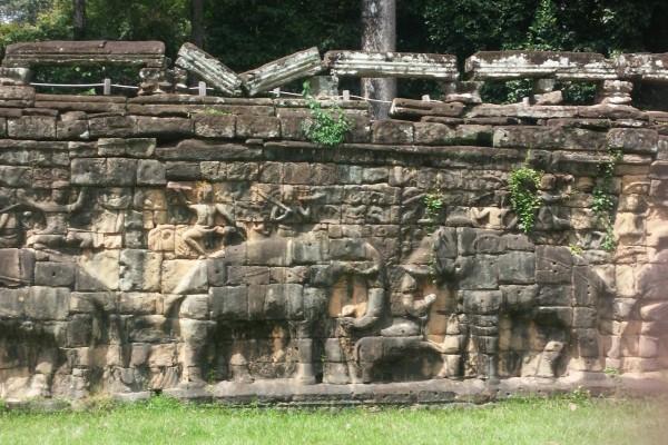 Elephants Terrace Temple, Siem Reap City, Elephants Terrace Temple in Siem Reap