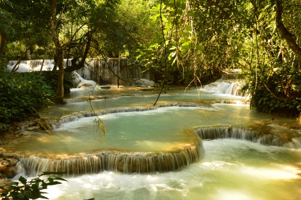 Kuang Si Falls in Luang Prabang, Kuang Si Falls, Luang Prabang, Laos