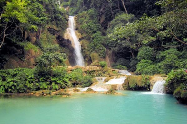 Kuang Si Falls, Kuang Si Falls in Luang Prabang, Luang Prabang