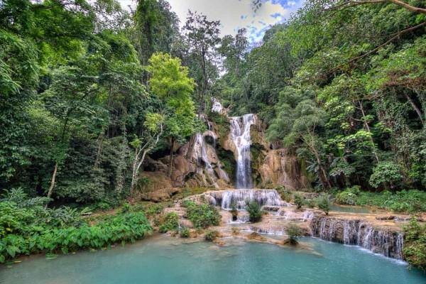 Kuang Si Falls, Kuang Si Falls in Luang Prabang, Laos