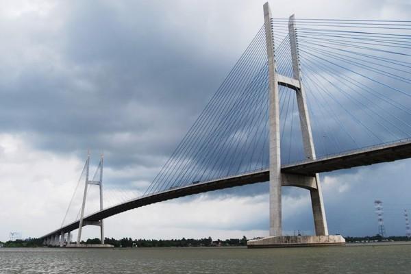 My Thuan Bridge, Vinh Long, Vinh Long Tour