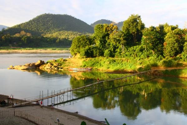 Nam Khan river, Nam Khan river in Luang Prabang