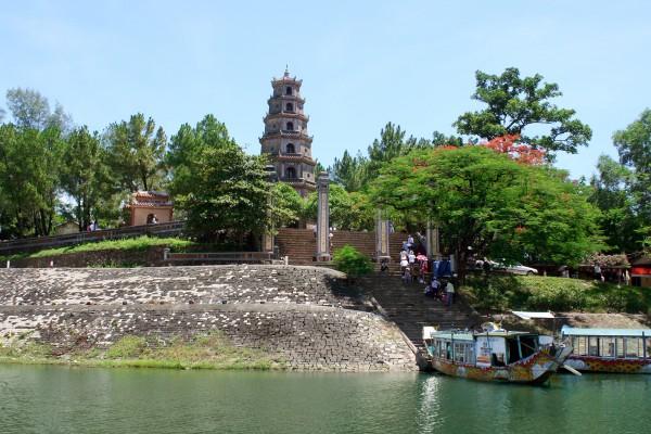 Thien Mu Pagoda, Hue, Hue River