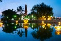 Tran Quoc Pagoda by night, Tran Quoc Pagoda, Hanoi Hotel