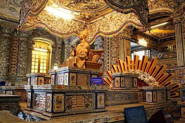 Khai Dinh Tomb, Khai Dinh Tomb in Hue, Hue Tomb, Hue Hotel, Hue Tour