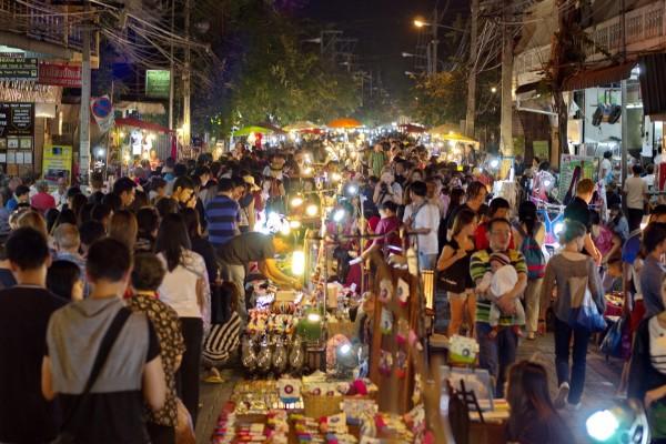 Mae Tang Night Market, Mae Tang, Thailand