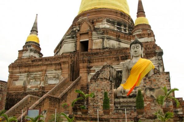 Wat Yai Chai Mongkhon, Ayuthaya in Thailand