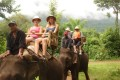 elephant riding in laos, laos tour