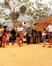 Family  hill tribes Village.