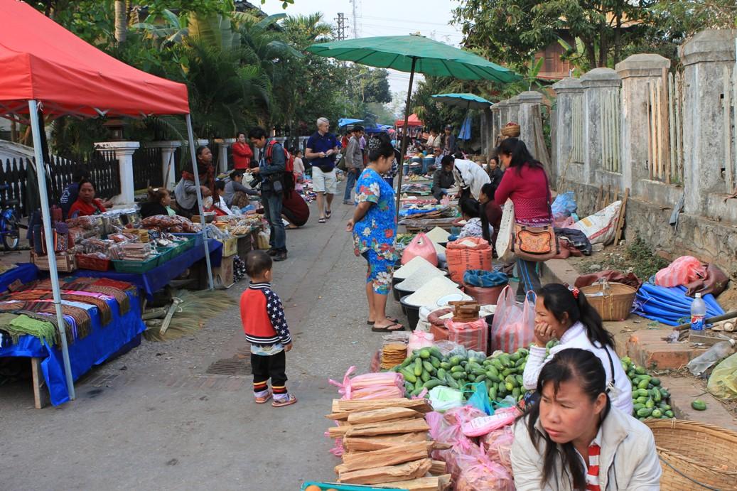 Luang Prabang Morning Market Laos Travel Guide Laos