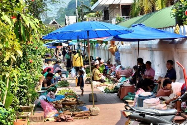 Luang Prabang Morning Market, Luang Prabang Laos