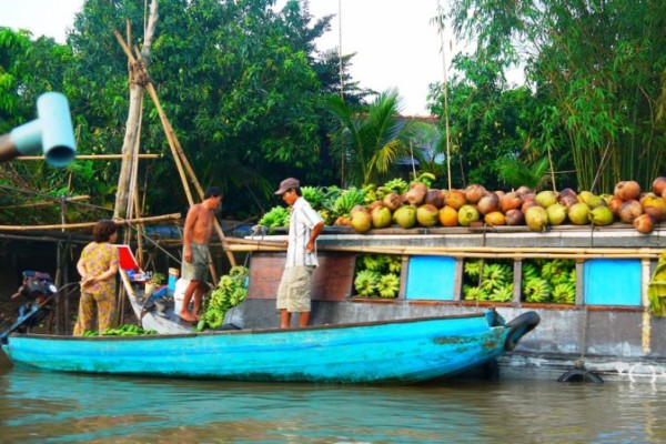Phong Dien Floating Market, Can Tho, VIetnam