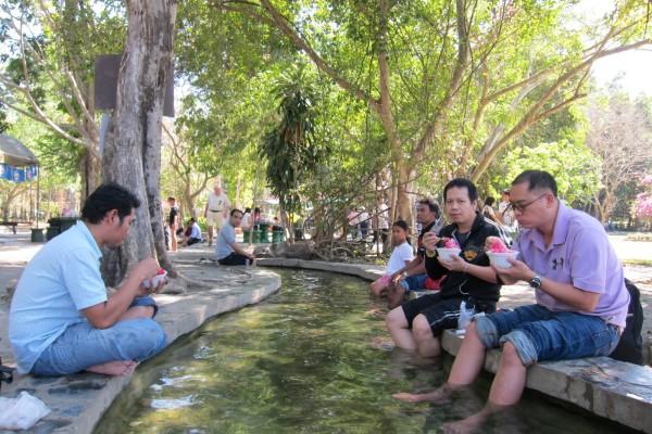 Sankampaeng Hot Springs, Chiang Mai, Thailand