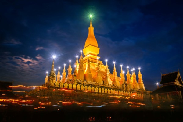 That Luang Stupa, Vientiane, Laos