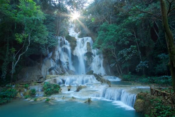 tad fane waterfall, Pakse, Laos