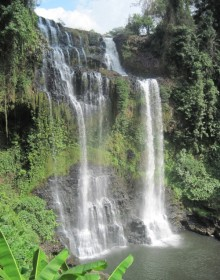 Tad fane waterfall are more impressive in the rainy season between July and October.