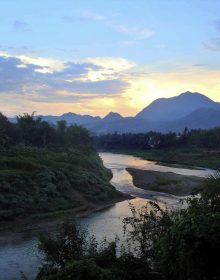 Nam Khan River in Luang Prabang, Laos.  (Photo by Molly Reid)