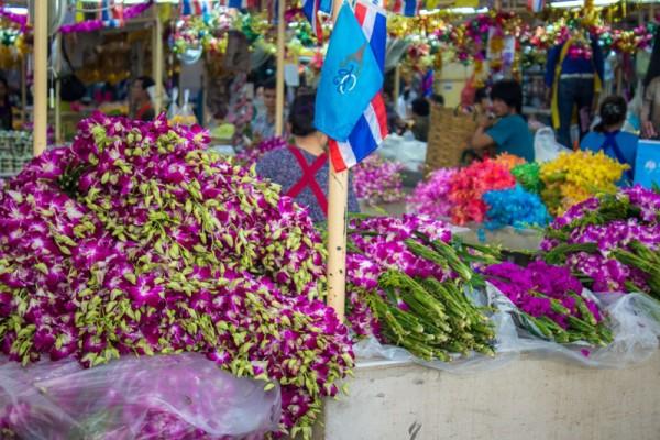 Pak Khlong Talat, Bangkok, Thailand