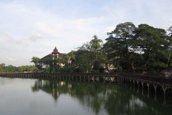 Kandawgyi Royal Lake, YanGon, Myanmar