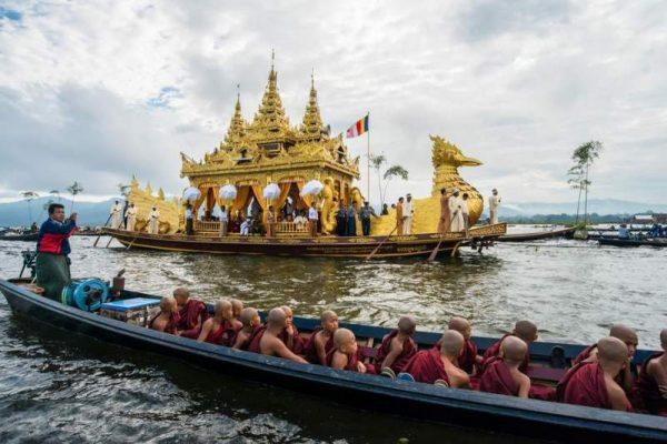 Phaungdawoo Pagoda, Inle Lake, Myanmar