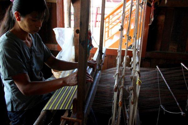 lotus fabric, Inle Lake, Myanmar