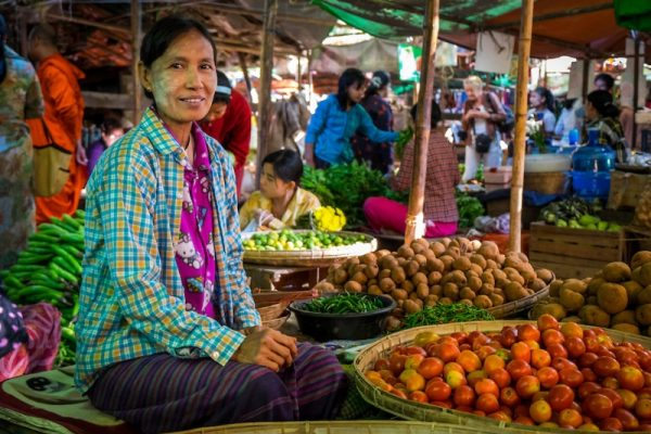 Nyaung U market, Bagan, Myanmar