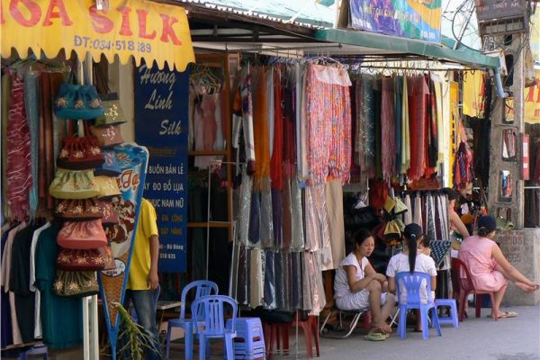 Van Phuc silk village is located in Ha Dong District, Hanoi. It is far from Hanoi center just around 10km